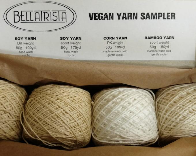Vegan Yarn Sampler - soy, corn, bamboo