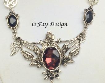Vampire jewelry,pentagram,gothic jewelry,witch jewelry,Gothic Necklace,Gothic Style,Goth,vampire pendant,vampire necklace,dark wave jewelry
