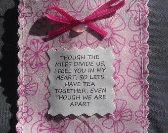 Friendship Tea Pouch, Poem & Tea Bag