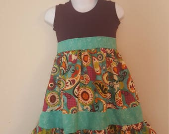 Ready to Ship Girls Boutique Style Dress; Toddler Boutique Dress; Girls Boutique Outfit; Ruffle Dress