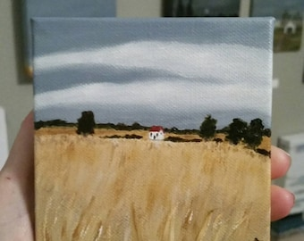 The Farmhouse - Oil Painting