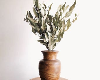 Wood Carved Vase | Flower Vase | Carving | Handmade | Modern Design