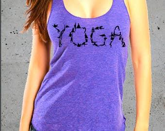 Yoga Tank Top,YOGA POSES,Yoga Clothes Women,Yoga T-Shirt,American Apparel Tee,Yoga Clothing, S M L ( Multiple Colors)