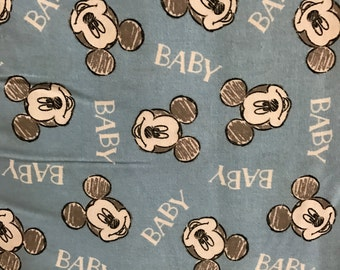 Mickey Mouse Print Fabric