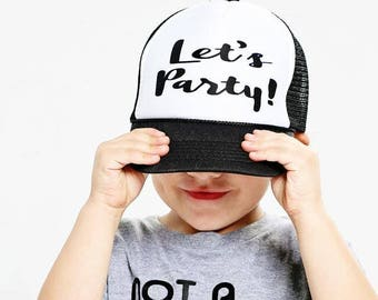 Let's Party Trucker Hat - Youth and Adult, Trucker Hat, Kid's Hat, Matching Hats, Mommy and Me Hats, Summer Hat, Baby Hat