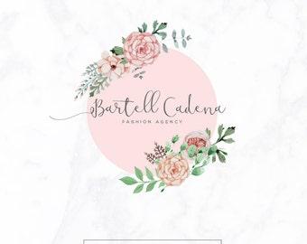 Premade Logo design - Watercolor Logo - custom Logo - Photography Logo - Floral Logo - Flower Logo - floral Logo design - Feminine Logo