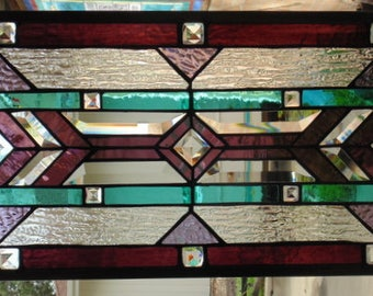 Stained Glass Window Hanging 29 1/2 X 10 3/4