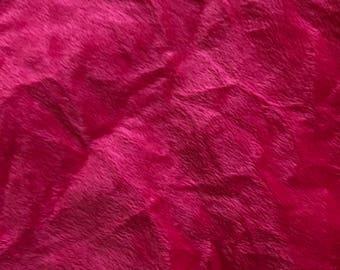 Fuschia Pink Crushed Panne Velvet Fabric 850mm x 1500mm