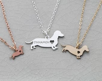 SALE • Dachshund Necklace • Dachshund Jewelry • Dog Necklace • Sterling Silver Pet • Doxie • Sausage Dog • Weiner • Personalized Pet Charm