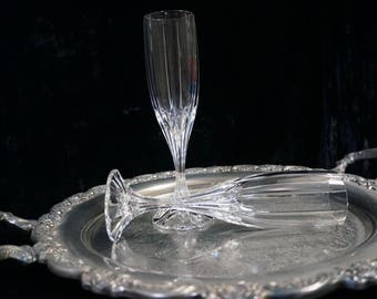 Vintage Mikasa Park Lane Chamange Flutes Cut Crystal