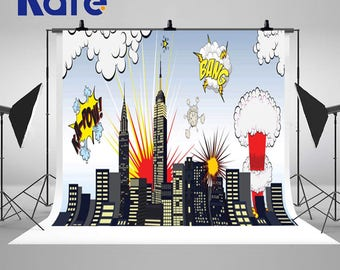 Colorful Cartoon City Building Photography Backdrops Newborn Baby Photo Backgrounds for Children Photo Studio J01705
