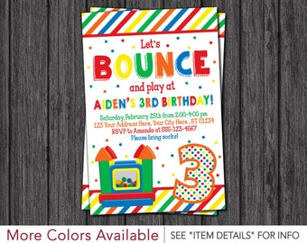 Bounce House Birthday Invitation - Printable Bounce House Invitations - Bouncy House Birthday Invitation - Bounce House Party