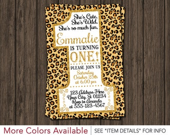 First Birthday Invitation - Cheetah 1st Birthday Invitations
