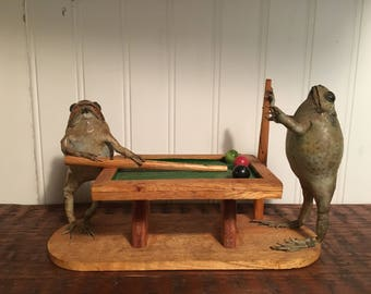 Vintage Taxidermy Frogs