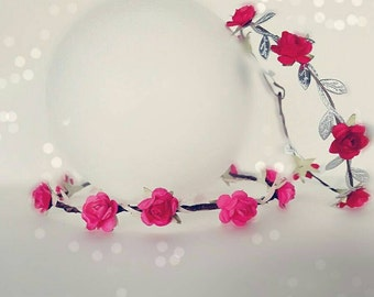 Rose Goddess Halo/Valentines Flower Halo/Newborn Halo/Photo Prop/Valentines Accessory