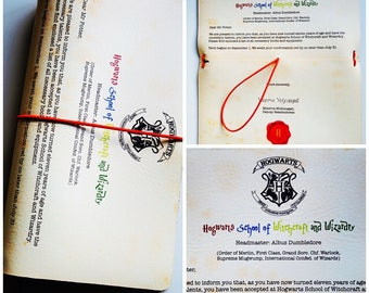 Hogwarts letter to Harry Potter imprinted TN (regular size)