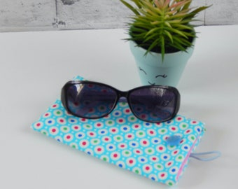 Glasses case, sunglasses case, beachwear,  reading glasses case, spectacles cover, mothers day gift, teacher gift, summer accessory,