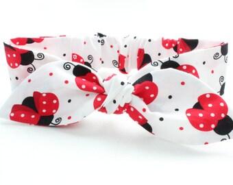 Baby headband, infant headband, Ladybugs, lady beetles