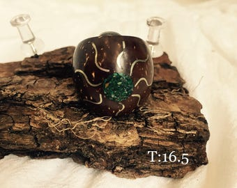 Ring jewelry natural coconut