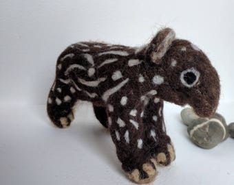 Tabitha the baby Tapir- cute needlefelted baby tapir sculpture