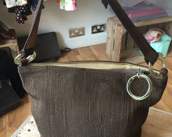 1930s Brown Corde bucket bag