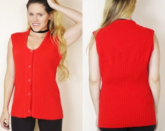 Vintage red sweater   Etsy