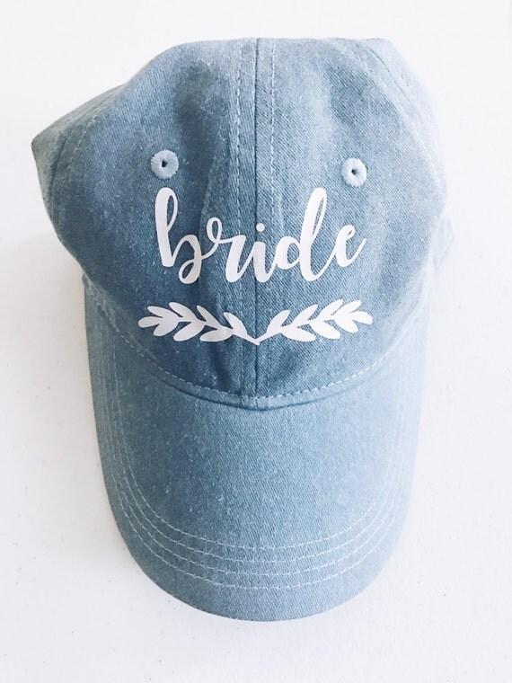 Custom Denim Hat | Momma Bear Hat | Bridesmaid Hat | Maid of Honor Hat