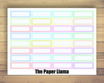 32 Pastel Multicolor Label Planner Stickers - 005
