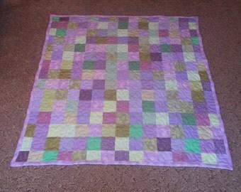 Lap Size Quilt - Lap Quilt -  Supply Your Own Fabrics - Custom Made Quilt - Patchwork Quilt -50% Deposit