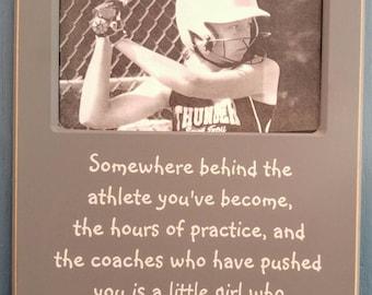 9x14 Photo Frame Sports Girl Basketball Volleyball Softball Soccer