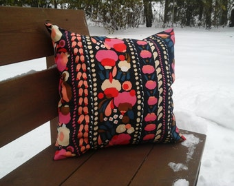 Modern pillow cover made from Marimekko fabric, floral Scandinavian accent pillow, pink throw pillow or cushion cover, pillow case sham