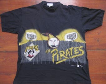 Vintage 90s Pittsburgh Pirates baseball t-shirt shirt Adult Large Medium
