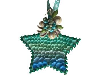 Seashell Star Ornament Vintage Seashells