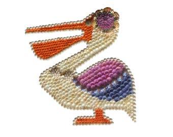 Pelican Seashell Wall Hanging Shell Art