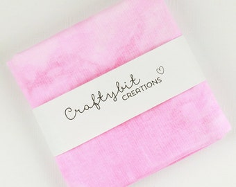 Hand dyed Mottled Quilt Cotton Fabric - Pink