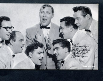 Vintage Exhibit Arcade Card of Bill Haley and the Comets Rock N Roll Hall of Fame