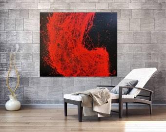Modern abstract artwork in XXL by Alexander Zerr acrylic on canvas 120x140cm #762