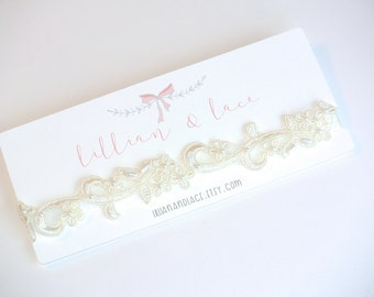 The Faith - Pearl Beaded Headband. Choose your size. Baby, girls, newborn, special occasion, photo prop, christening, baptism.