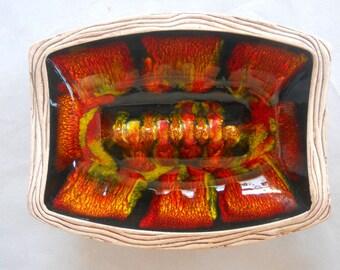 California Pottery Ashtray, #1201, Ceramic Ashtray, 1960's Vintage