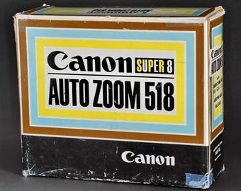 Canon Super-8 Zoom 518 S8mm Movie Camera w 9.5-47.5 f/1.8 C-8 Zoom Lens MiNTY !