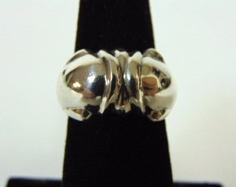 Womens Vintage Estate .925 Sterling Silver Ring 5.3g E2804