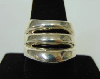 Womens Vintage Estate .925 Sterling Silver Ring 13.9g E3140