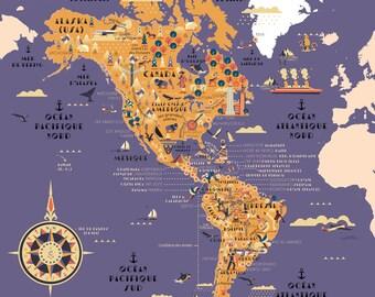 America pop map, America map, world map