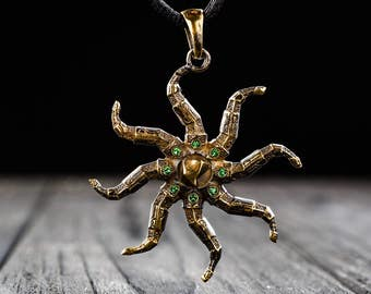 Azura star pendant Elder Scrolls Inspired Skyrim Necklace, Handmade amulet Brass Game Pendant Novelty Fashion Wear Jewelry Christmas SALE