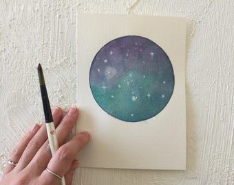 Original Moon Paintings | 7x5 inches