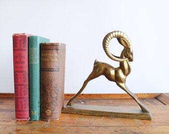 Brass Ram Statue