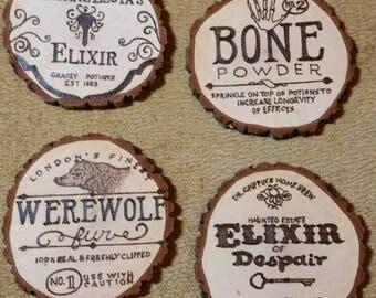 Woodburned Coasters