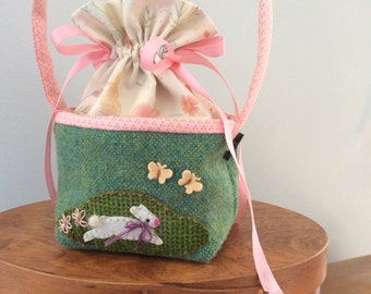 Easter Bunny Tote / purse bag