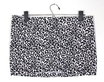 Ultra Mini Snow Leopard Skirt