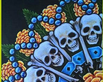 Dia de los Muertas Mandala A3 Print